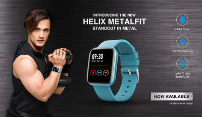 Helix Brand Ambassador Asim Riaz Launches New Metalfit Smartwatch Range available on Amazon India